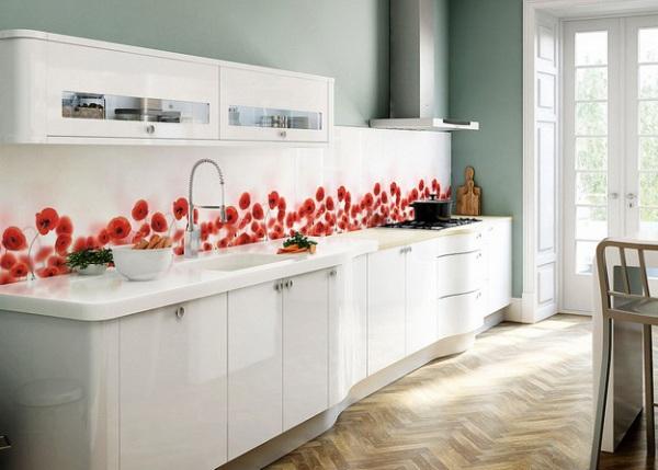 Чем можно сделать кухонный фартук кроме плитки, лучшие способы