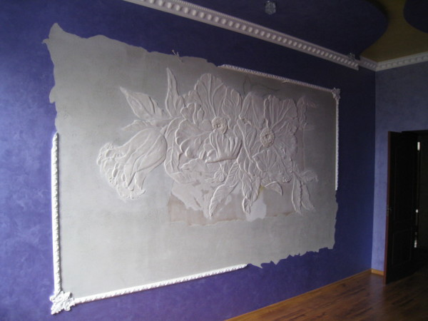Декор стен с помощью лепнины своими руками
