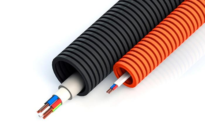 Гофра для кабеля: виды и применение