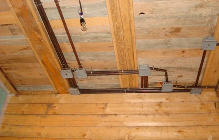 Как монтировать проводку в деревянном доме