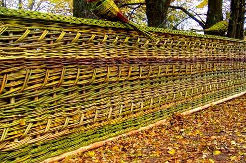 Как сделать плетень на даче