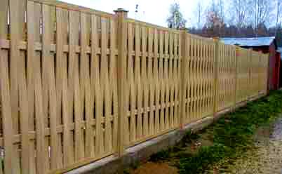 Как сделать плетеный забор из досок