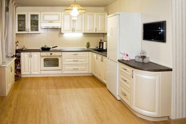 Какая форма кухонного гарнитура самая компактная