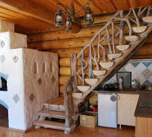 Лестница из бревна своими руками