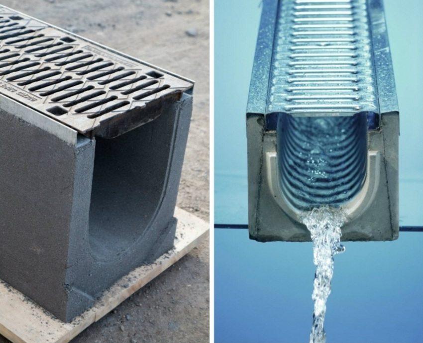 Лотки для ливневой канализации: назначение, разновидности и особенности монтажа