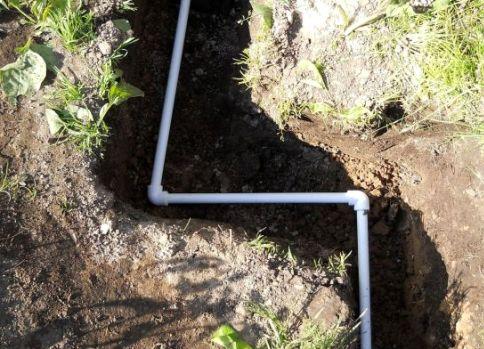 Монтаж водопровода из колодца