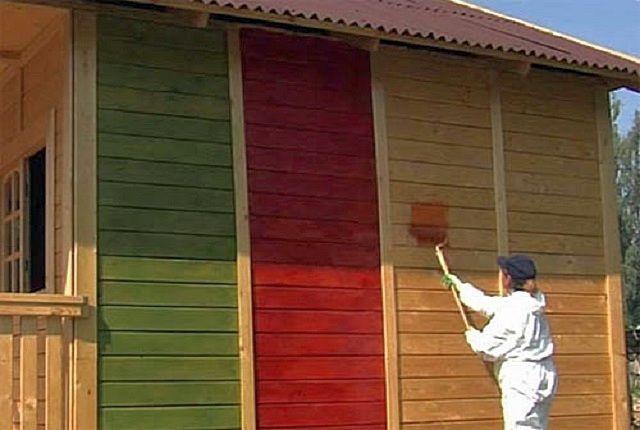 Покраска фасада дома