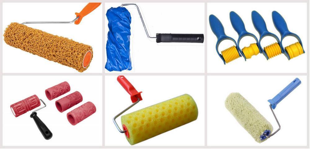 Разновидности фактурных валиков для декоративной штукатурки стен