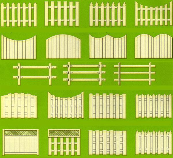 Решетчатые деревянные и металлические заборы