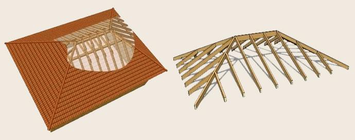 Самостоятельное устройство вальмовой крыши
