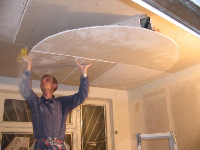 Создание потолка из гипсокартона своими руками