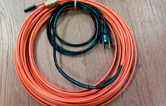 Строение и применение греющего кабеля