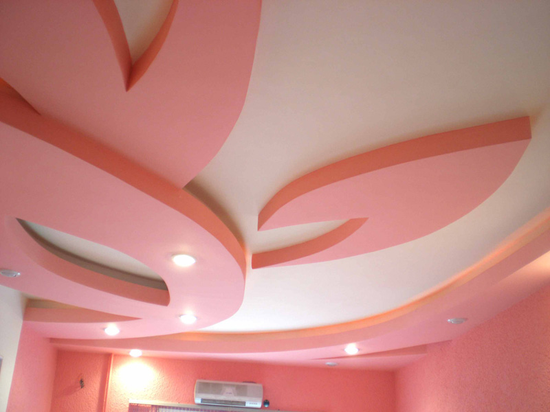 Техника покраски гипсокартонного потолка своими руками