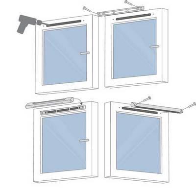 Установка приточного клапана на пластиковые окна