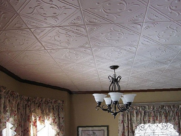 Устройство клеевого потолка своими руками