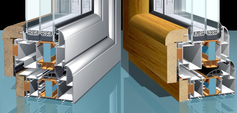 Виды и свойства комбинированных окон