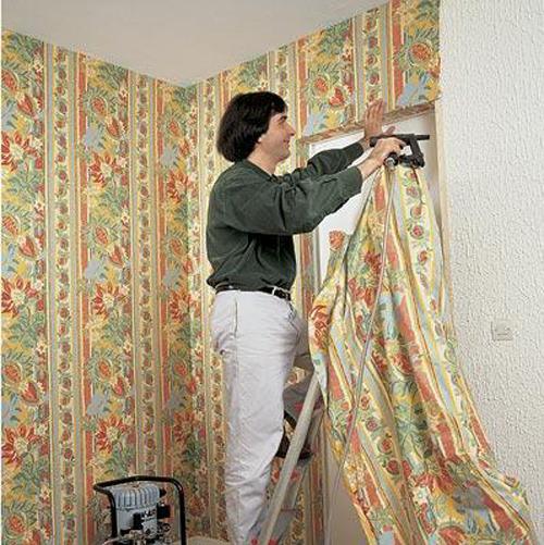 Виды и технология отделки стен текстилем