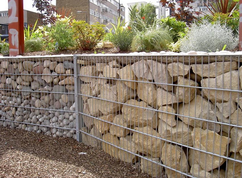Забор из габиона своими руками: пошаговая инструкция