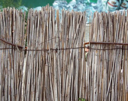 Заборы из бамбука и тростника