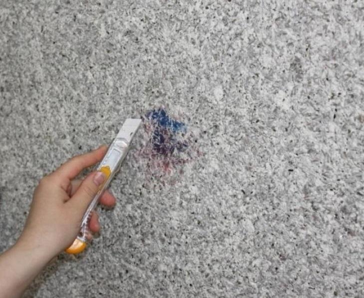Реставрация поверхности с жидкими обоями