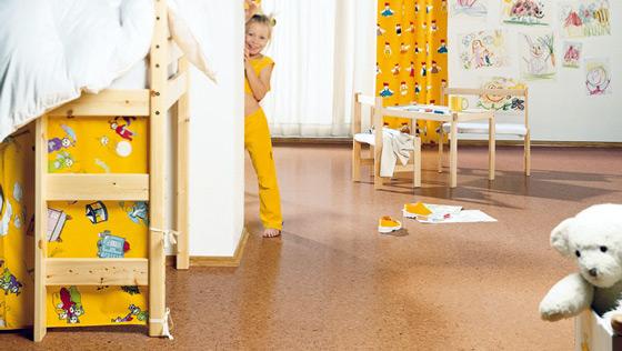 Пробковый пол для детской