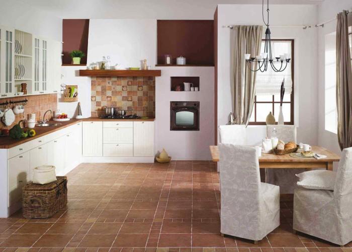 Варианты устройства пола на кухне